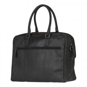 Pánská kožená taška na notebook Burkely Tommas - černá