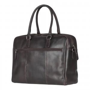 Pánská kožená taška na notebook Burkely Tommas - tmavě hnědá