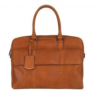 Pánská kožená taška na notebook Burkely Tommas - koňak