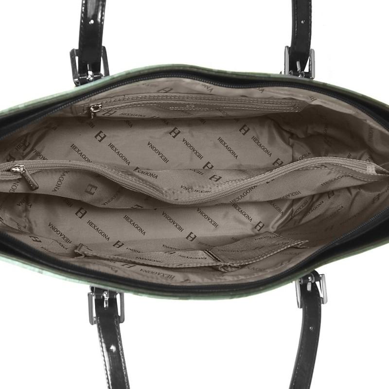 Dámská kabelka Hexagona 743966 - černo-šedá