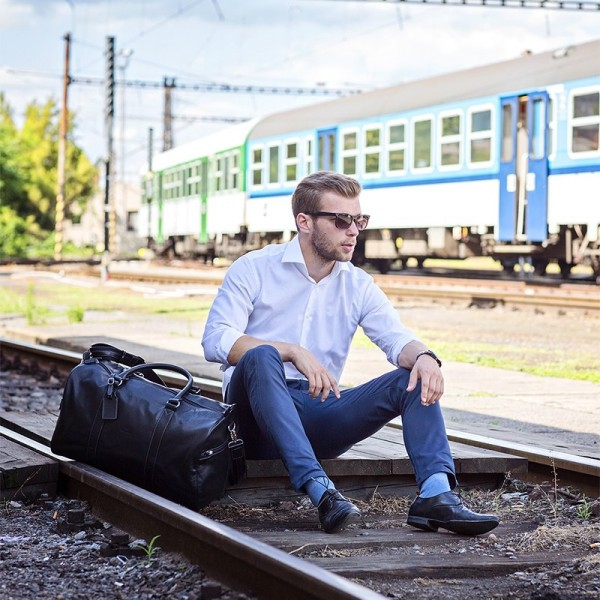 Pánská celokožená cestovní taška Hexagona Star - hnědá