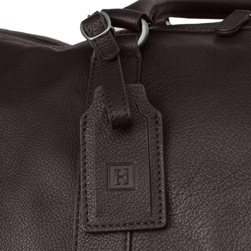 Pánská celokožená cestovní taška Hexagona Bolt - hnědá