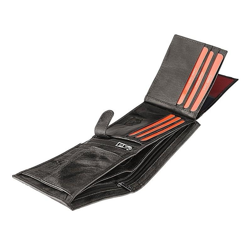Pánská kožená peněženka Pierre Cardin Henri - modrá