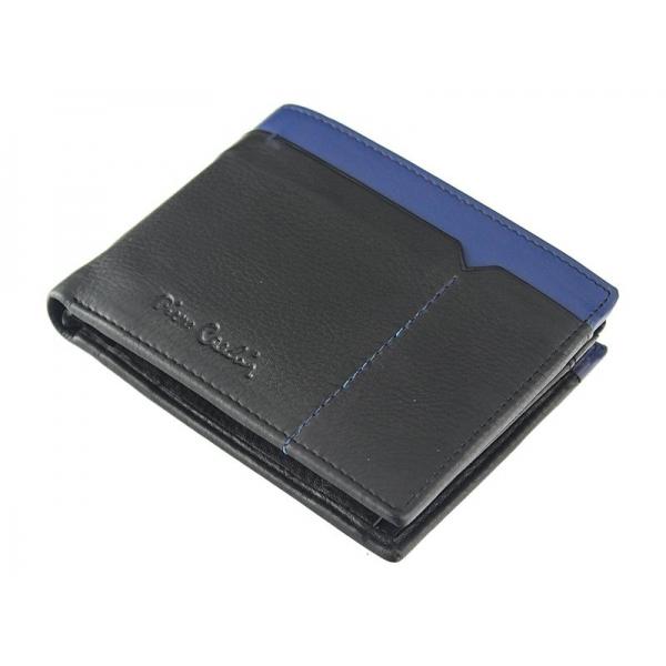 Pánská kožená peněženka Pierre Cardin Norel - černo-modrá