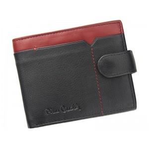 Pánská kožená peněženka Pierre Cardin Uran - černo-červená