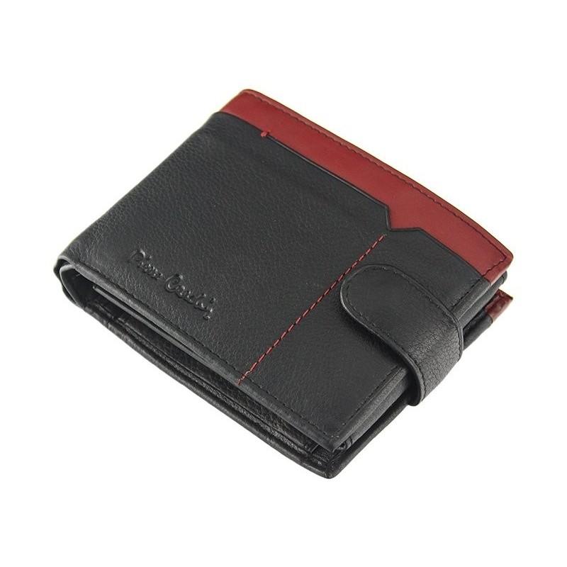 Pánská kožená peněženka Pierre Cardin Uran - černo-modrá