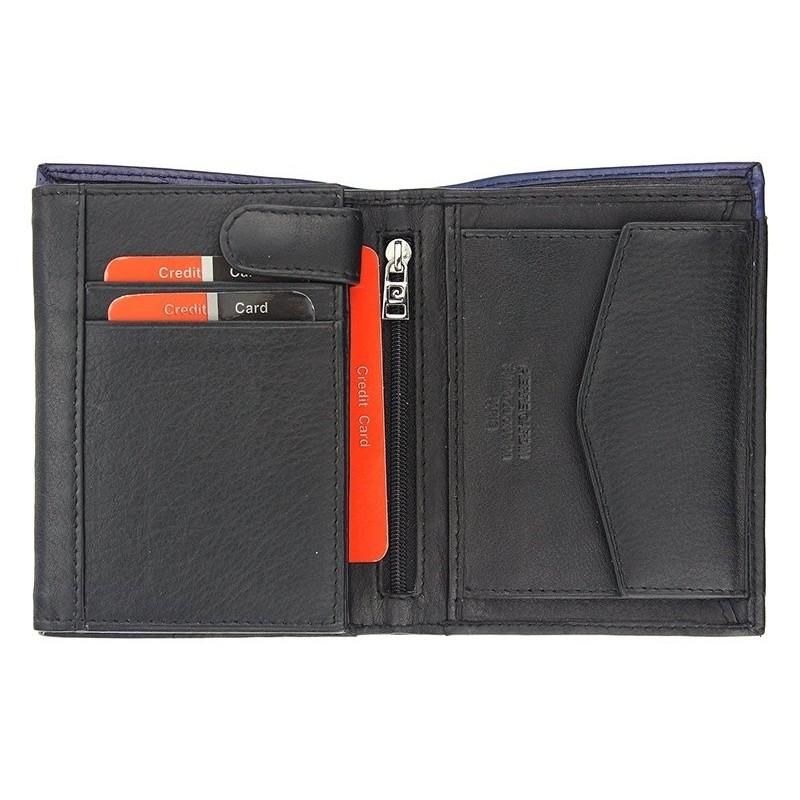 Pánská kožená peněženka Pierre Cardin Saturn - černo-červená