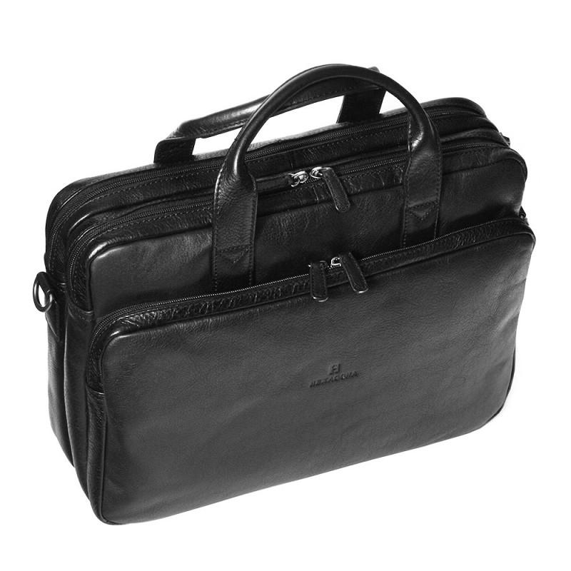 Pánská kožená taška přes rameno Hexagona 129479 - černá