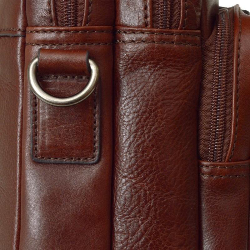 Pánská kožená taška přes rameno Hexagona 129479 - koňak