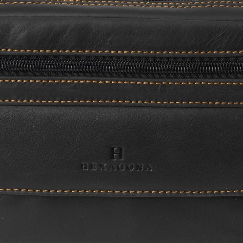 Pánské kožené etue Hexagona 154193 - černá