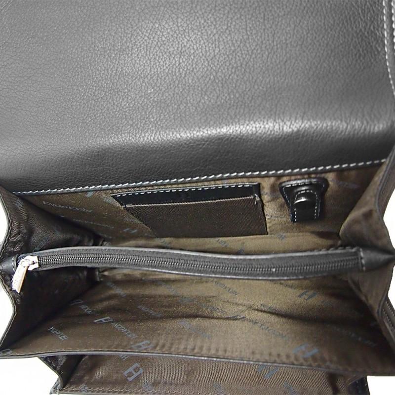 Pánské kožené etue Hexagona 469376 - černá