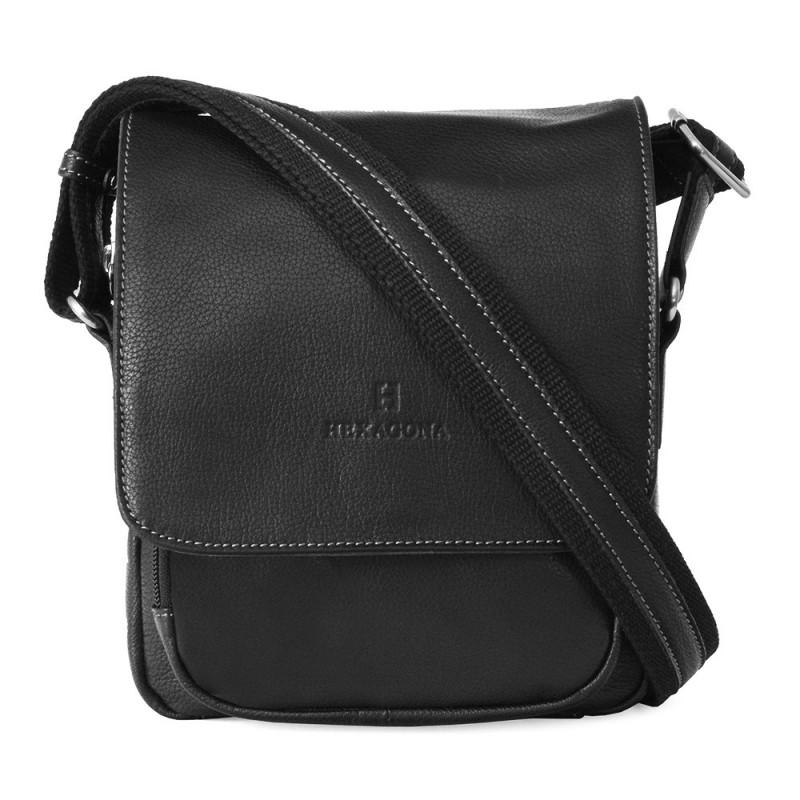 Pánská kožená taška na doklady Hexagona 463958 - černá