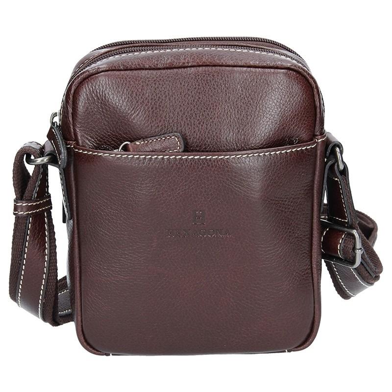 Pánská kožená taška přes rameno Hexagona 123477 - hnědá
