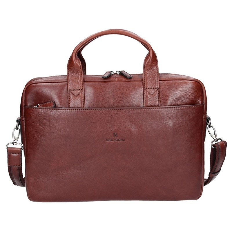 Pánská kožená taška přes rameno Hexagona 129478 - koňak