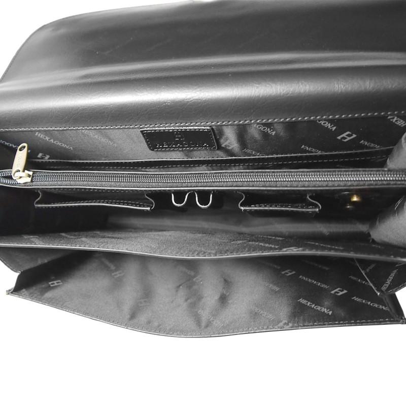 Pánská aktovka Hexagona 730478 - černá