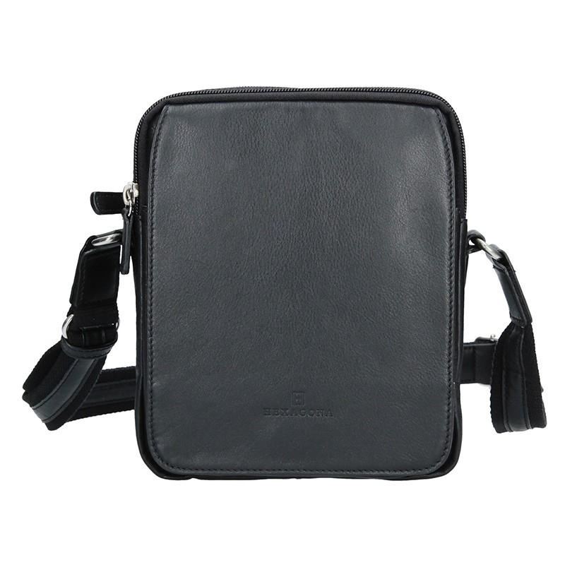 Pánská kožená taška na doklady Hexagona 204568 - černá