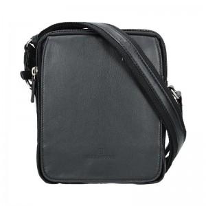 Pánská kožená taška na doklady Hexagona 463956 - černá