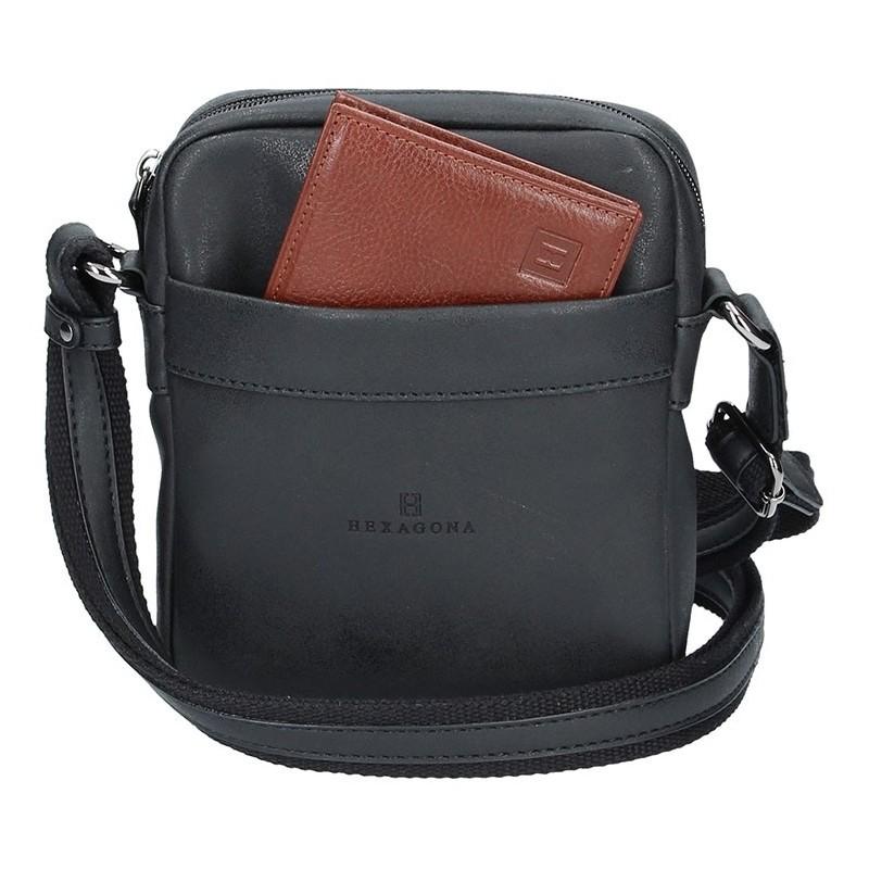 Pánská taška na doklady Hexagona 784636 - černá