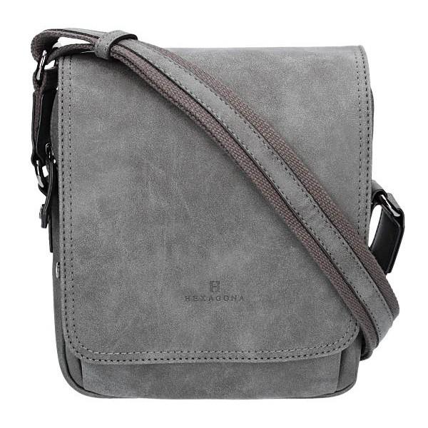 Pánská taška na doklady Hexagona 784631 - šedá a5abce7ac4