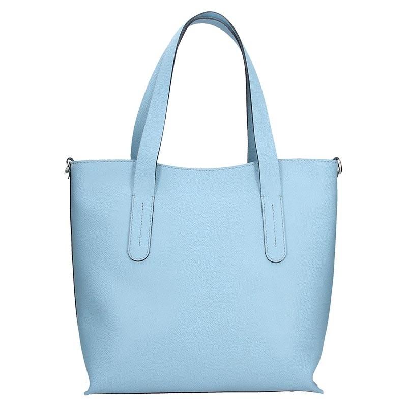 Dámská kožená kabelka Facebag Nina - modrá
