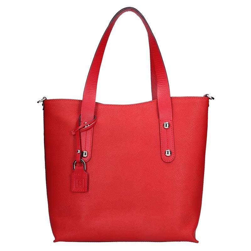 Dámská kožená kabelka Facebag Nina - červená