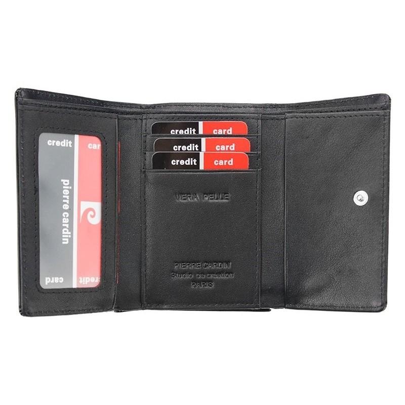 Dámská kožená peněženka Pierre Cardin Patricia - černá