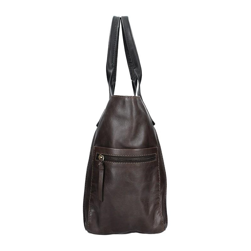 Dámská kožený kabelka Lagen Lorna - hnědo-šedá