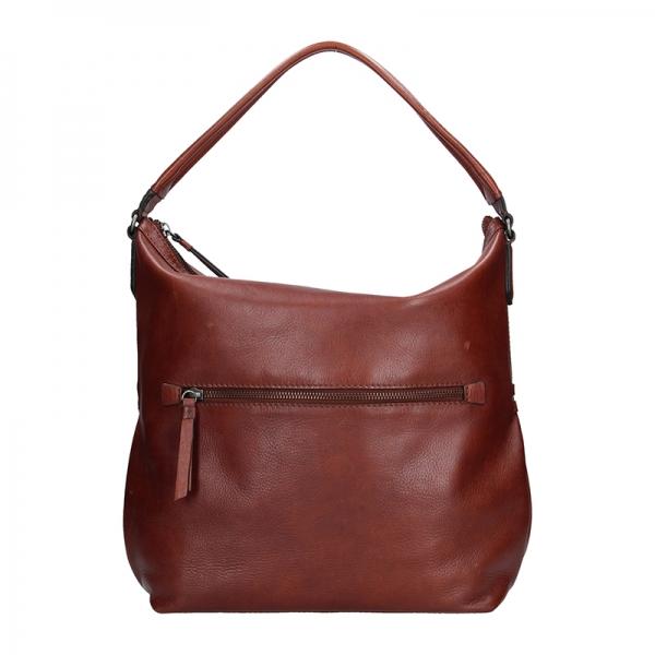 Dámská kožený kabelka Lagen Stela - hnědá