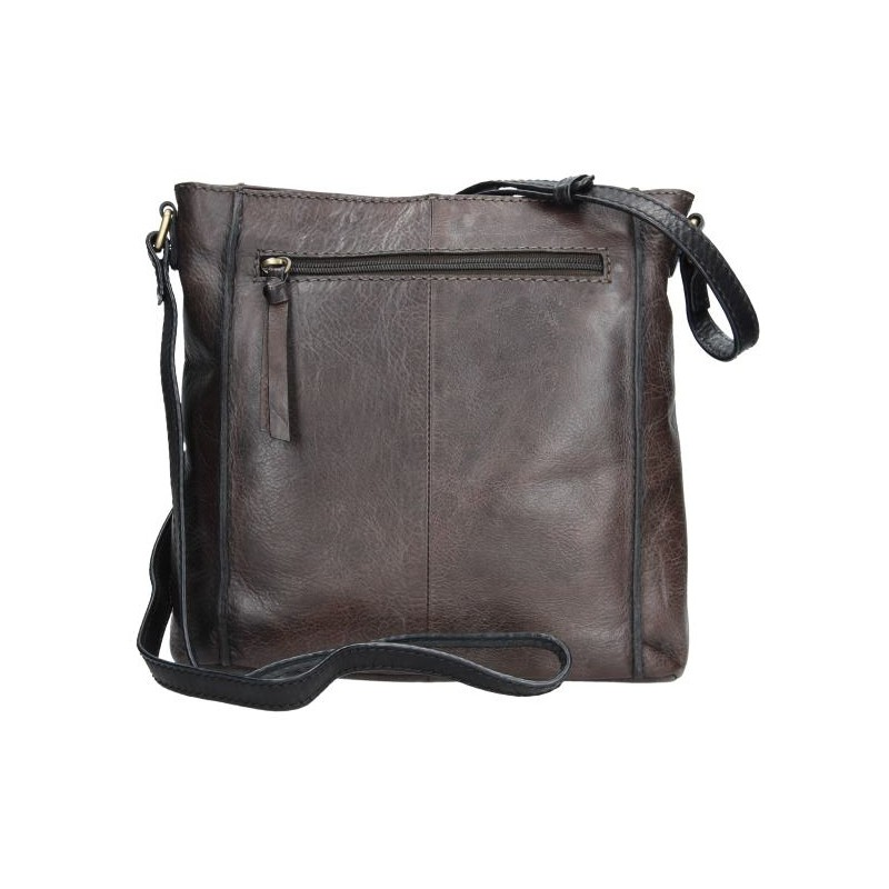Dámská crosbody kabelka Lagen Paula - hnědo-šedá