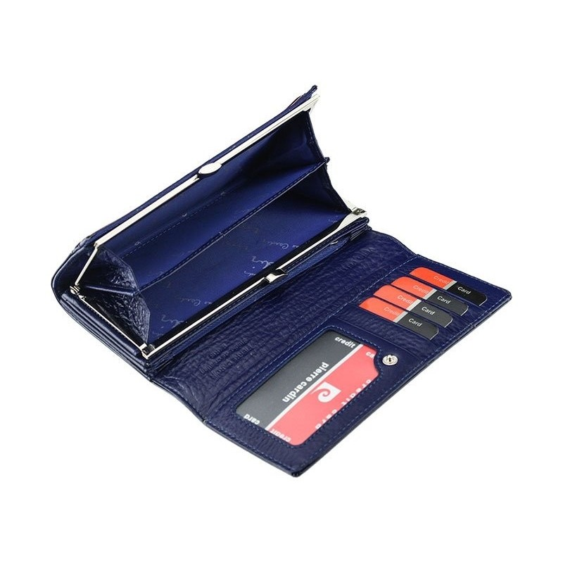 Dámská kožená peněženka Pierre Cardin Romano - modrá