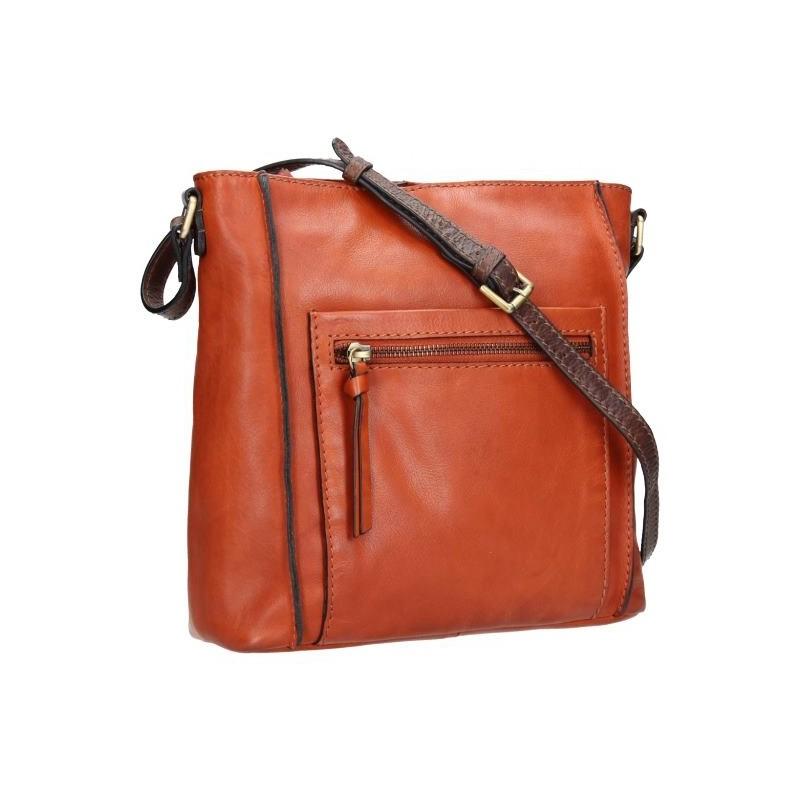 Dámská crosbody kabelka Lagen Paula - hnědo-oranžová