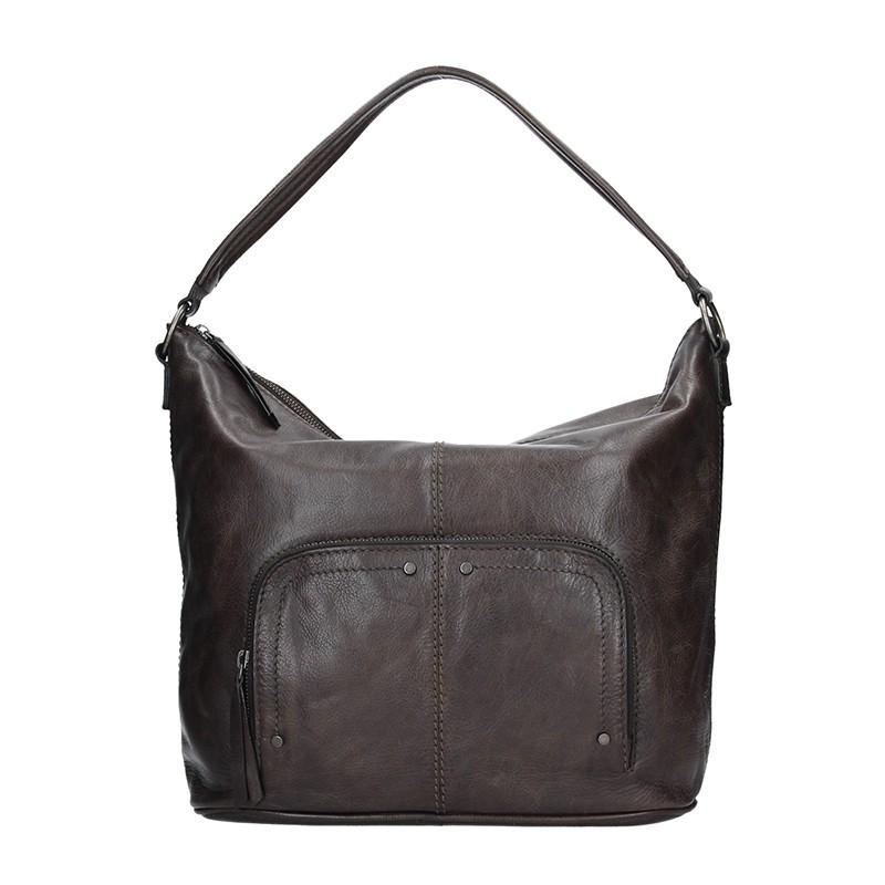 Dámská kožený kabelka Lagen Dana - hnědo-šedá