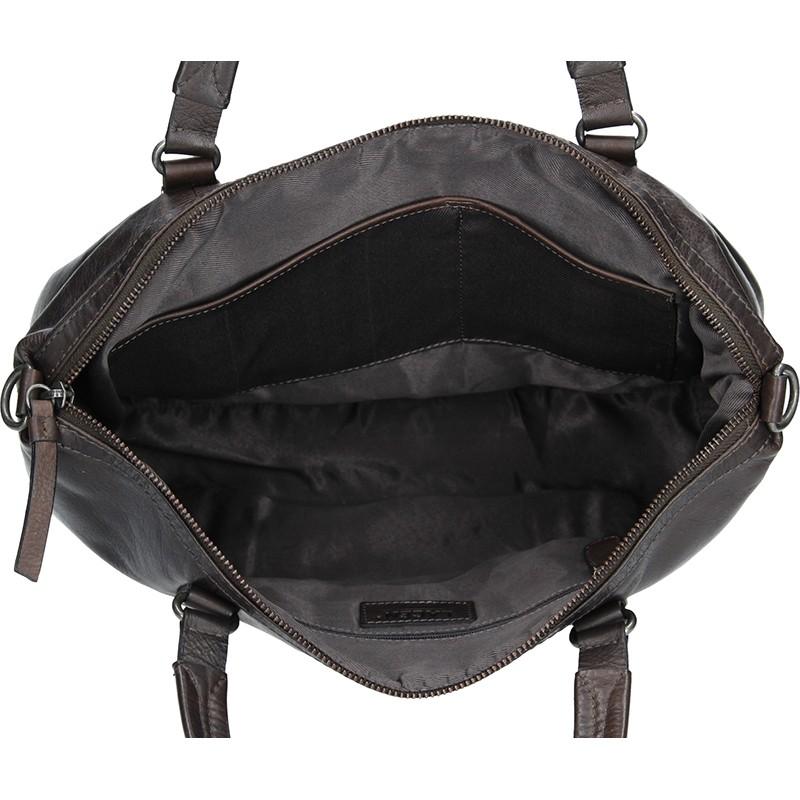 Dámská kožený kabelka Lagen Tamara - hnědo-šedá