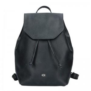 Dámský kožený batoh Daag Fanky GO! 26 - černá