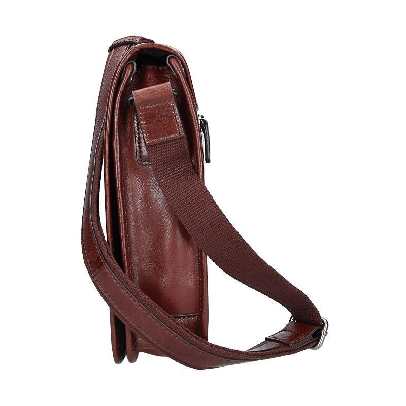 Pánská kožená taška přes rameno Hexagona 129483 - koňak