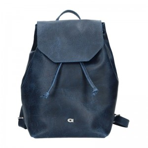 Dámský kožený batoh Daag Fanky GO! 26 - tmavě modrá