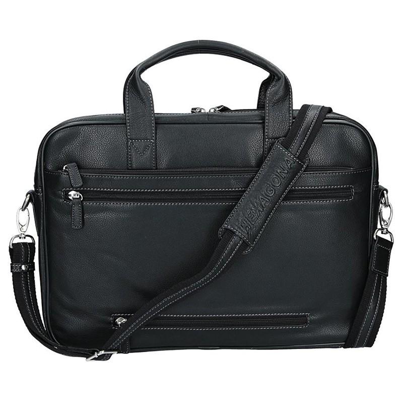 Pánská kožená taška přes rameno Hexagona Tango - černá