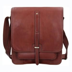 Pánská kožená taška přes rameno Gérard Henon Edmond - hnědá