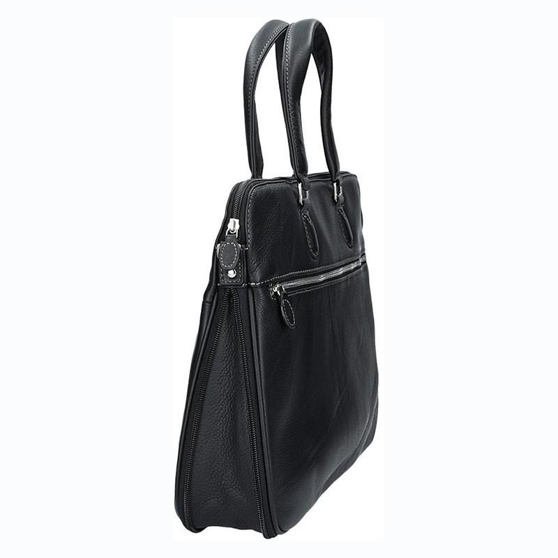 Luxusní pánská kožená aktovka Gérard Henon Paris - černá