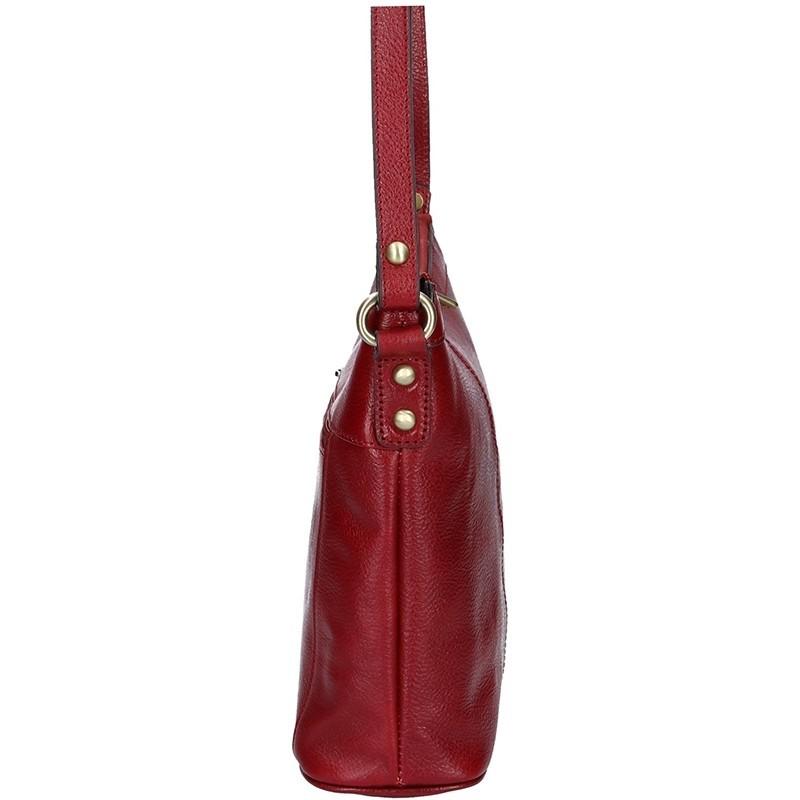 Luxusní kožené dámské crossbody Hexagona 113032- vínová