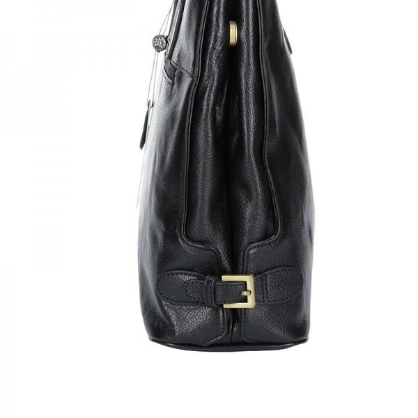 Luxusní kožená dámská kabelka Hexagona 111321B - černá