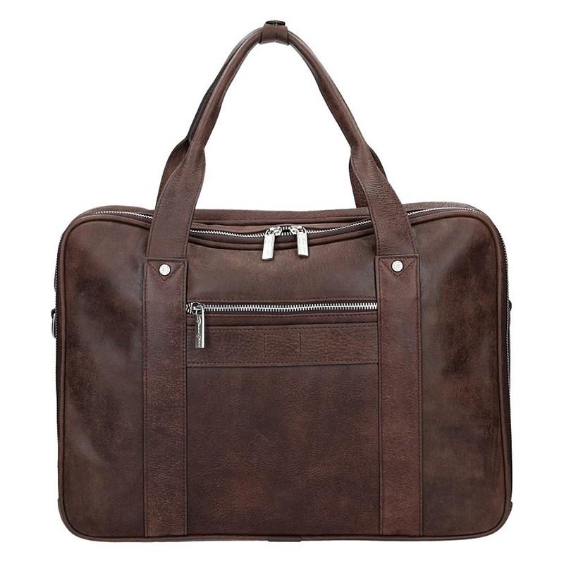 Luxusní pánská kožená taška Gérard Henon Montana - hnědá