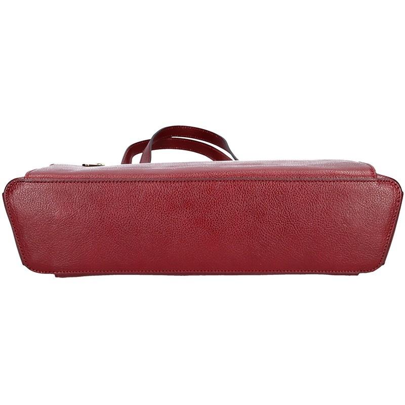 Luxusní kožená dámská kabelka Hexagona 111851A - vínová
