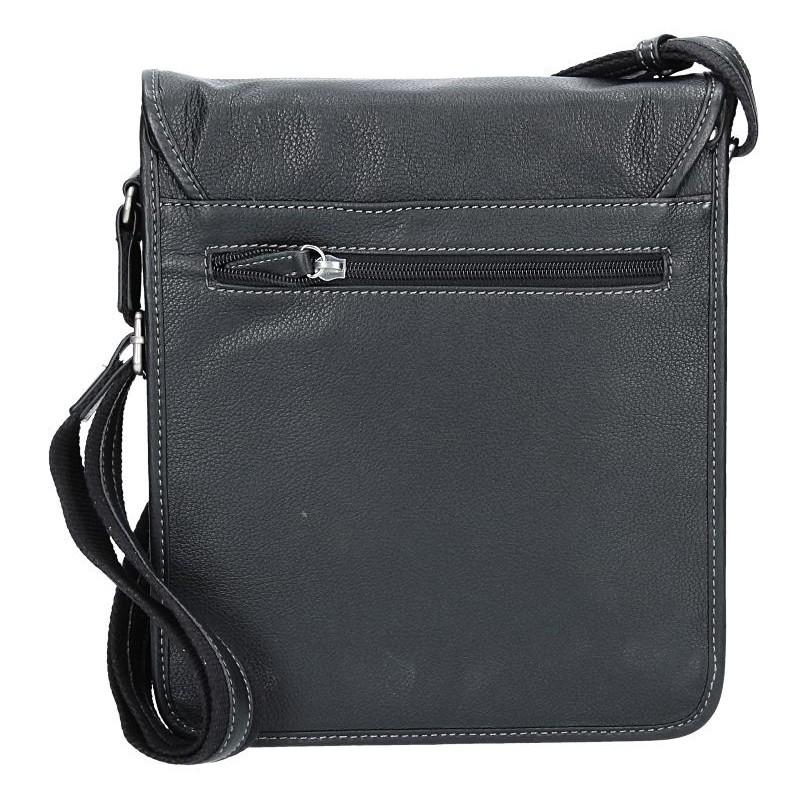 Pánská kožená taška na doklady Hexagona 469548 - černá