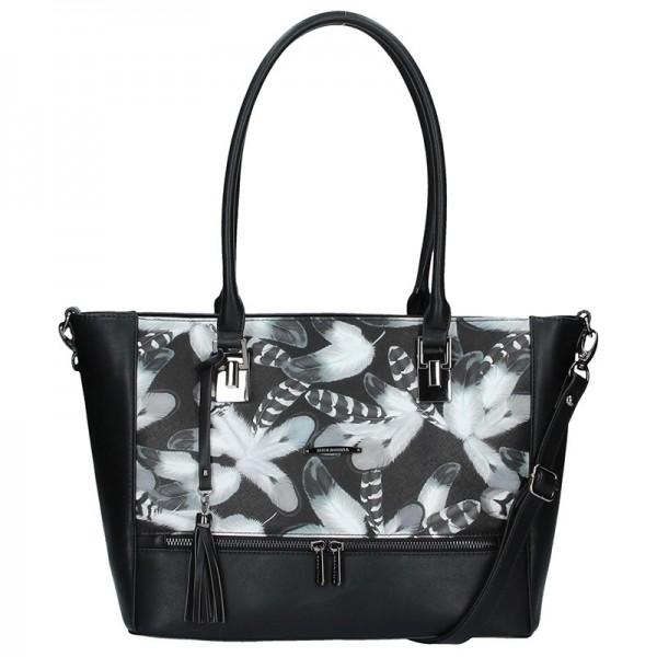 Dámská kabelka Hexagona 314609 - černo-bílá