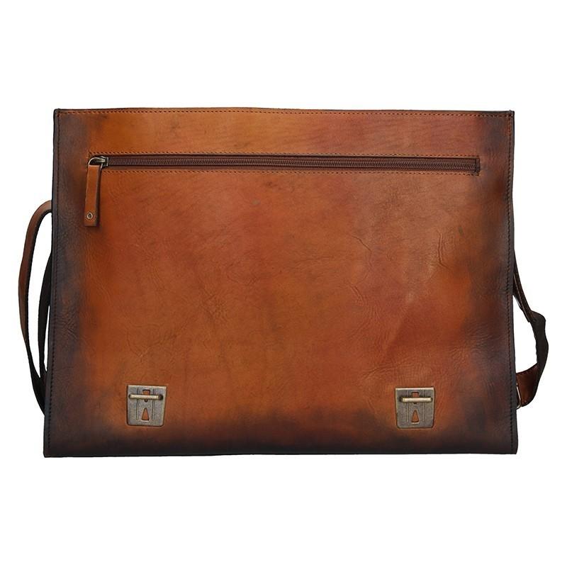 Luxusní pánská kožená taška Daag ALIVE 11 - hnědá