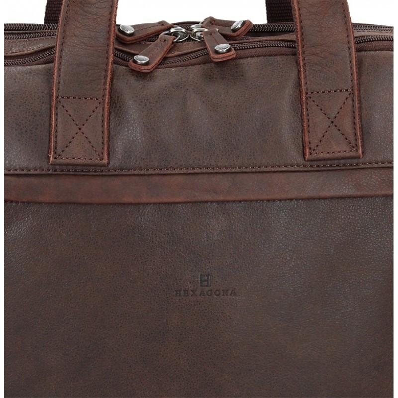 Pánská kožená taška přes rameno Hexagona Tomass