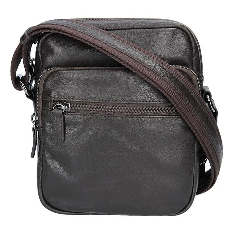 93fae89cfa Kožená pánská taška na doklady Hexagona 184742 - hnědá
