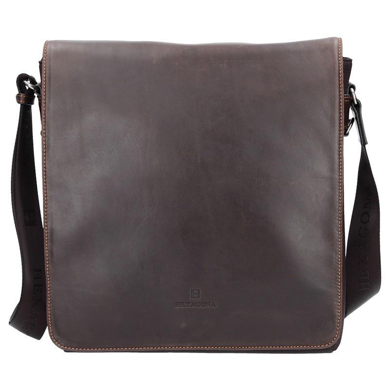 Pánská taška přes rameno Hexagona 299163 - hnědá