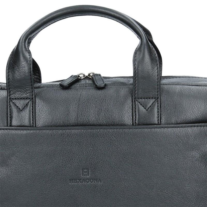 Pánská kožená taška přes rameno Hexagona Arles- černá